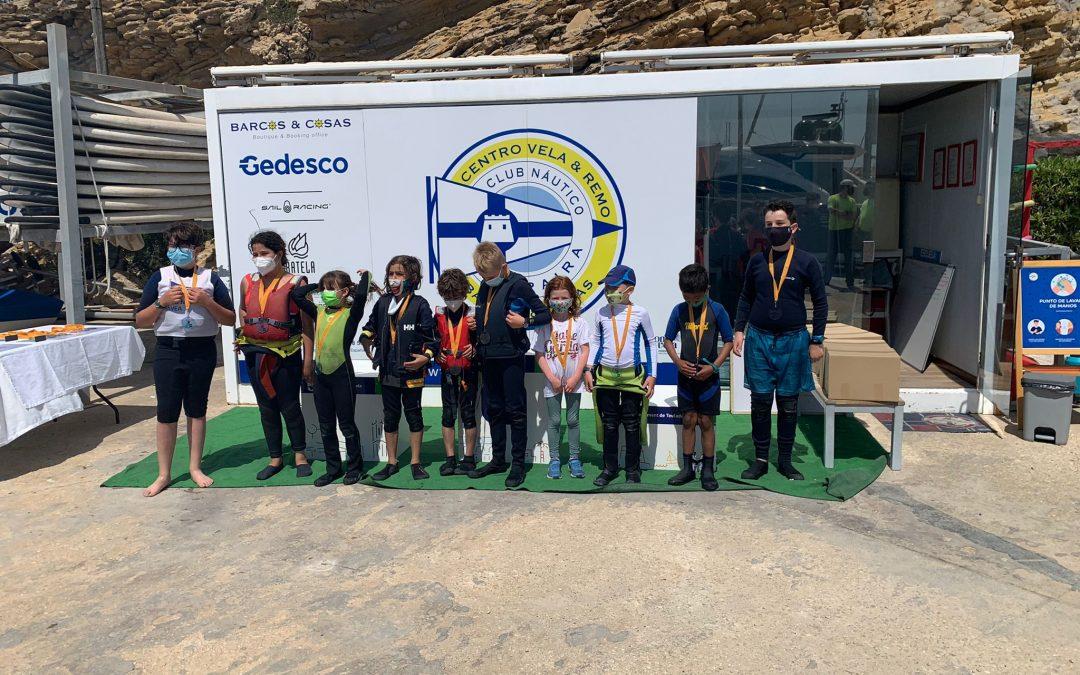 La flota de Optimist C participa en los Jocs Esportius de la Marina Alta