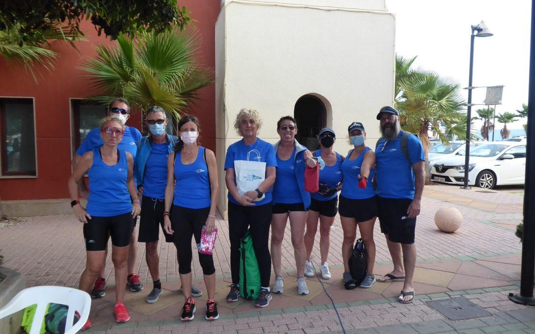 40 miembros del equipo de Remo del Club Náutico Jávea participan en la jornada 100 Paladas Solidarias
