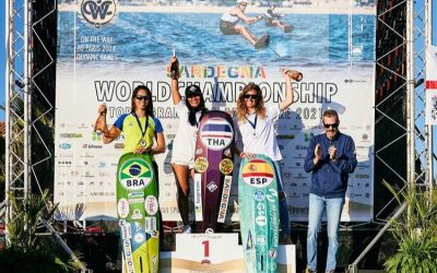 Marta Sánchez se cuelga la medalla de plata en categoría master en el mundial de Fórmula Kite